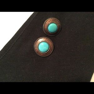 Carolyn Pollack turquoise button earrings